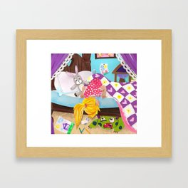 Under the Bed Framed Art Print