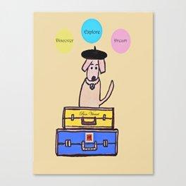 French Dog Canvas Print
