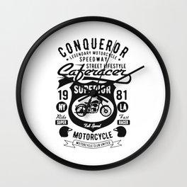 conqueror speedway street lifestyle Wall Clock