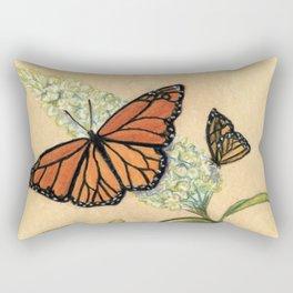 Monarch Butterfly Pastel Study Rectangular Pillow