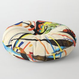 The Bird by Wassily Kandinsky Floor Pillow