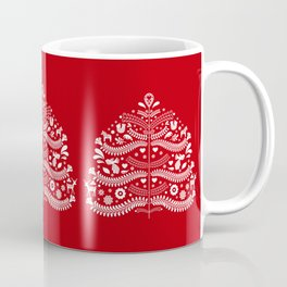 Scandinavian Folk Art Christmas Tree Coffee Mug