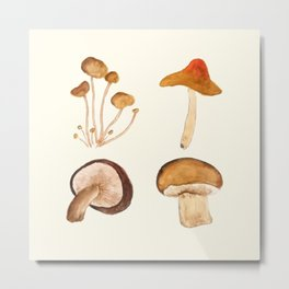 mushroom watercolor painting Metal Print