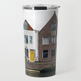 Row houses and Canal in The Netherlands Travel Mug