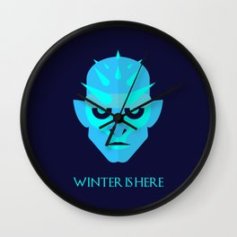 The Ice King - Winter is here Vector Poster Wall Clock