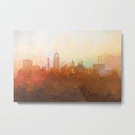 Lansing, Michigan Skyline - In the Clouds Metal Print