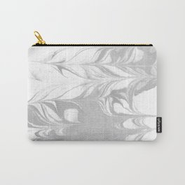 Marble grey 3 Suminagashi watercolor pattern art pisces water wave ocean minimal design Carry-All Pouch