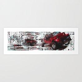 re:jeep Art Print
