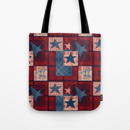 Creative patchwork. Star. The creative pattern. Tote Bag