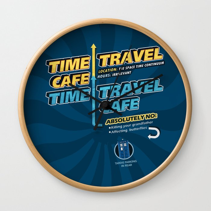 Time Travel Cafe Wall Clock