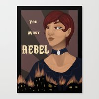 rebel Canvas Prints featuring REBEL by Tar Pit