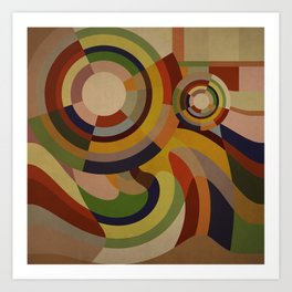 Sonia Circles THREE Art Print