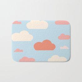 cloud blue and pink Bath Mat