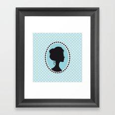 Blue cameo Framed Art Print