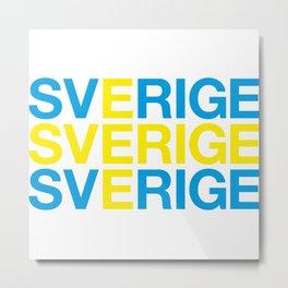 SVERIGE Flag Metal Print
