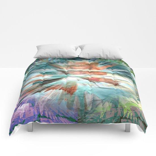 Paper Teal Splash Comforters