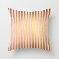 bisexual Throw Pillows featuring Striped by Better HOME