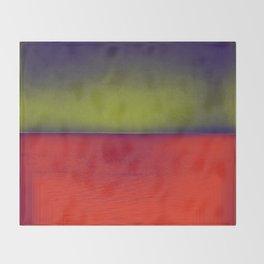 gradient horizon Throw Blanket