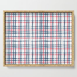 4th of July Skinny Gingham Serving Tray