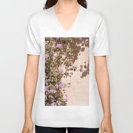 Lila Flowers In The Sun Summer Photo   Colorful Floral Travel Photography In France Art Print   Colors Of Europe Unisex V-Neck