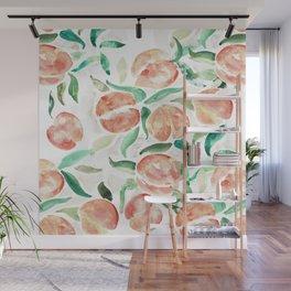 Watercolor Peaches Wall Mural
