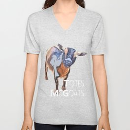"""Totes McGoats!"" ~ Nigerian Dwarf Goat Pop Art Photography!  Gotta Love the Goaty-Woaties! Unisex V-Neck"