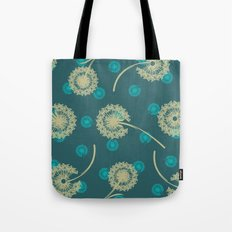 DANDELIONS TURQUOISE Tote Bag