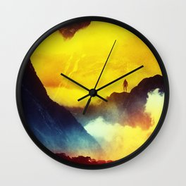 This volcano is mine Wall Clock