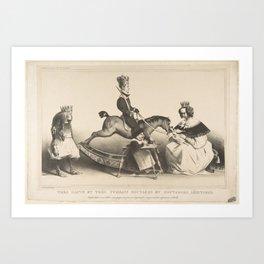 Very Haughty and Very Mighty Legitimist Brats,February 1834 Art Print