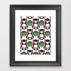 Emeralds & Demons [WHITE] Framed Art Print