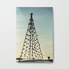 Nautical Christmas Metal Print