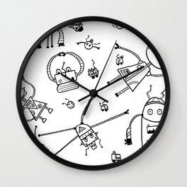 Beautiful Robotic Creatures Composition Wall Clock