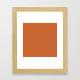 Simply Cedar Brown Framed Art Print