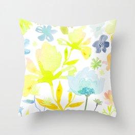 Dreamy Garden Throw Pillow