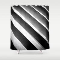 noir Shower Curtains featuring Paper Noir by Stuff.