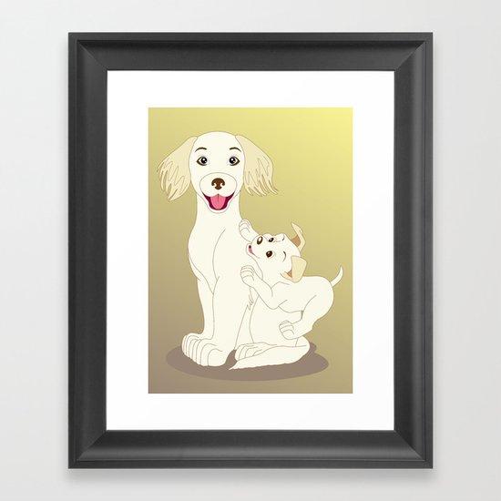 Mum, I Love You Framed Art Print