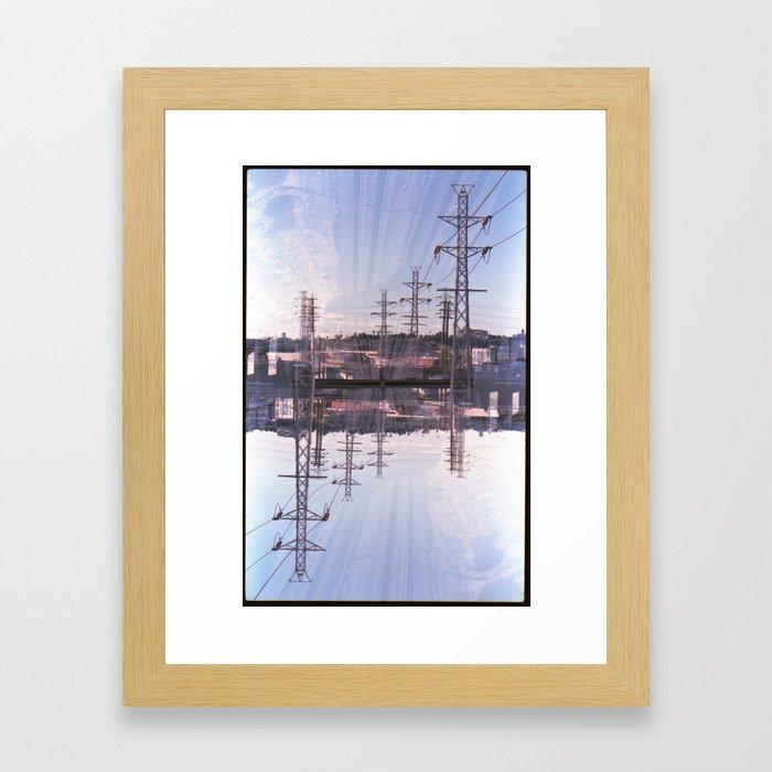 Landscapes c6 (35mm Double Exposure) Framed Art Print