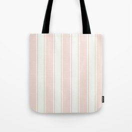 Vintage pastel pink stripes pattern Tote Bag