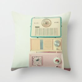 Radio Stations Throw Pillow