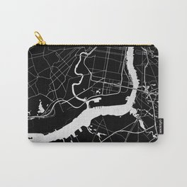 Philadelphia - Black and Silver Carry-All Pouch