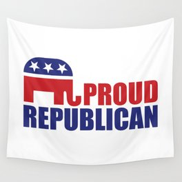 Proud Republican Elephant Design Wall Tapestry