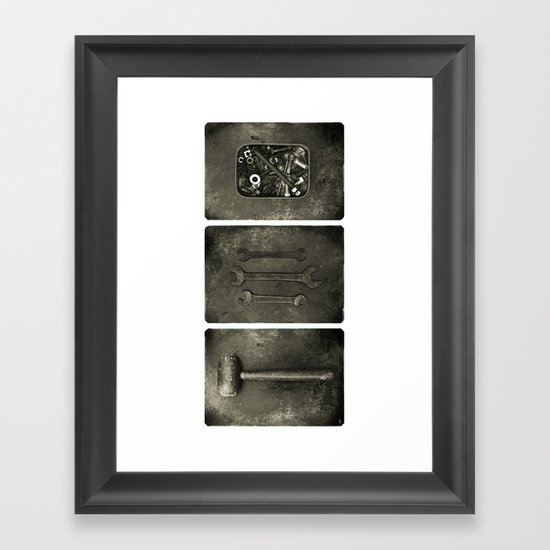 Dad used to make things (triptych one) Framed Art Print