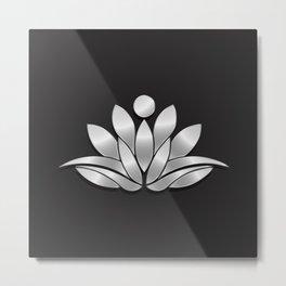 Silver Lotus Flower People. Good Fortune Design Metal Print