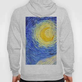 "Vincent Van Gogh "" Starry Night "" , Partial expansion Hoody"