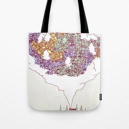 City in the Middle of Nowhere Tote Bag