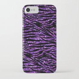 glitter zebra iPhone Case