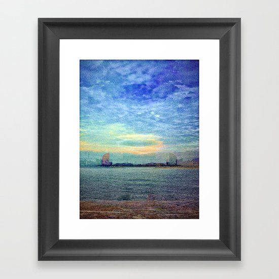 """...walk to the water..."" Framed Art Print"