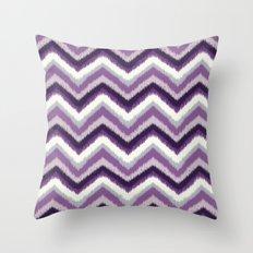 Ikat Chevron: Purple Tonal  Throw Pillow