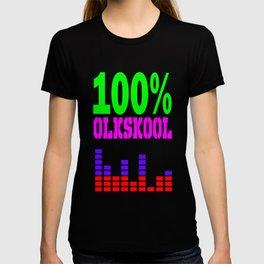 100% oldskool music logo T-shirt