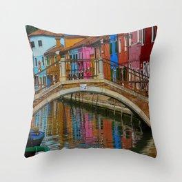 Bridge of Reflection Throw Pillow